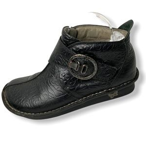 ALEGRIA Black Genuine Leather Comfort Booties 37